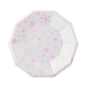 Frosted Snowflake Large Paper Plates - Ellie and Piper