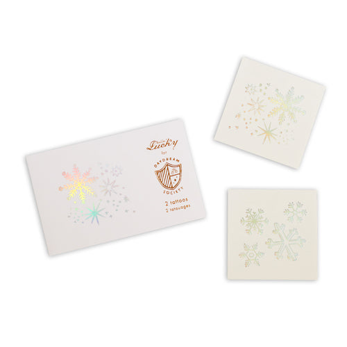 Frosted Snowflake Temporary Tattoos