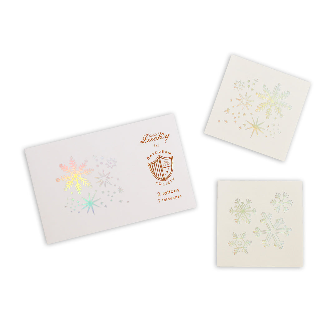 Frosted Snowflake Temporary Tattoos - Ellie and Piper