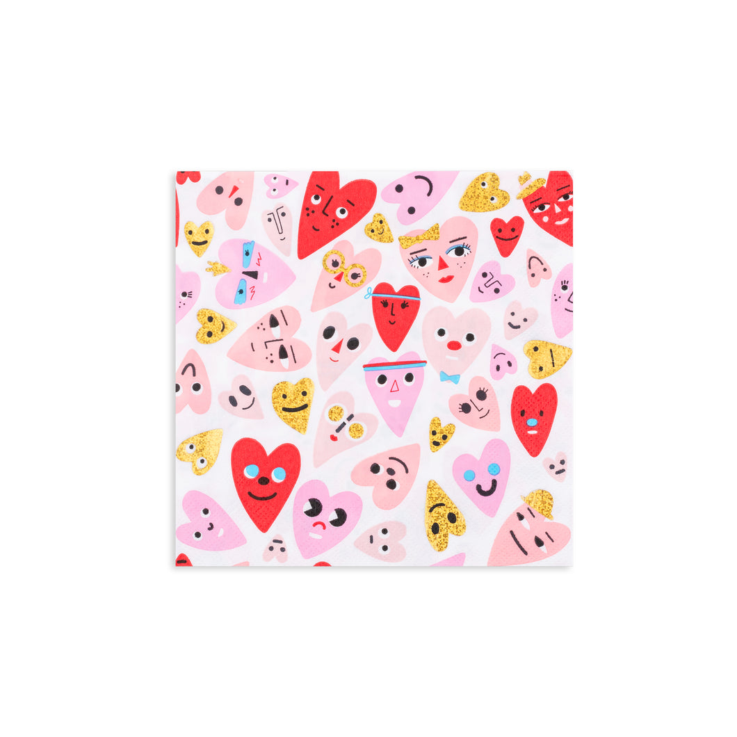 Heartbeat Gang Large Napkins - Ellie and Piper