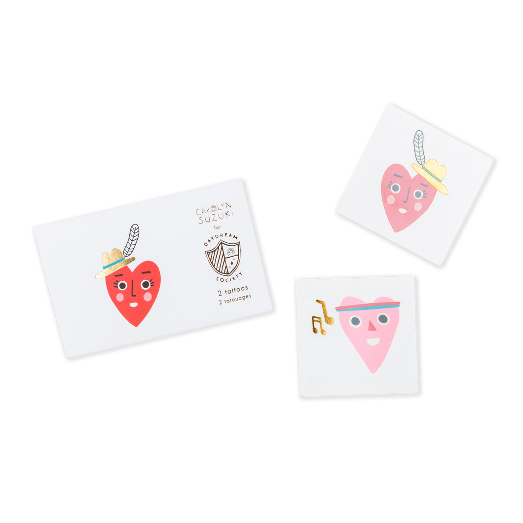 Heartbeat Gang Temporary Tattoos - Ellie and Piper