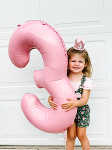 Jumbo Number Balloon Light Pink - Ellie and Piper