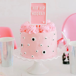 Pink Letter Board Cake Topper 'Hip Hip Hooray' - Ellie and Piper