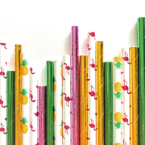 Tropical Vibes Straws