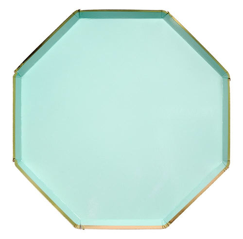 Mint Green Paper Dinner Plates - Ellie and Piper