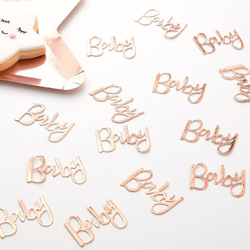 Rose Gold Baby Confetti Ellie & Piper Party Boutique