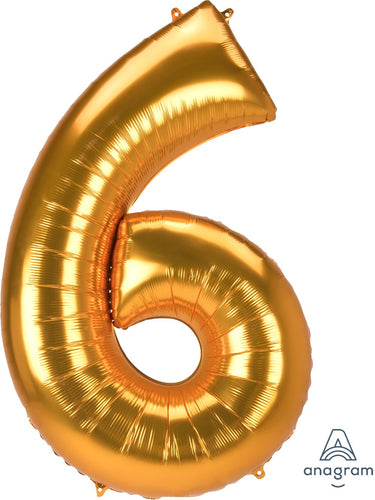 Foil Jumbo Number 6 Balloon (3 Colors) Ellie & Piper Party Boutique