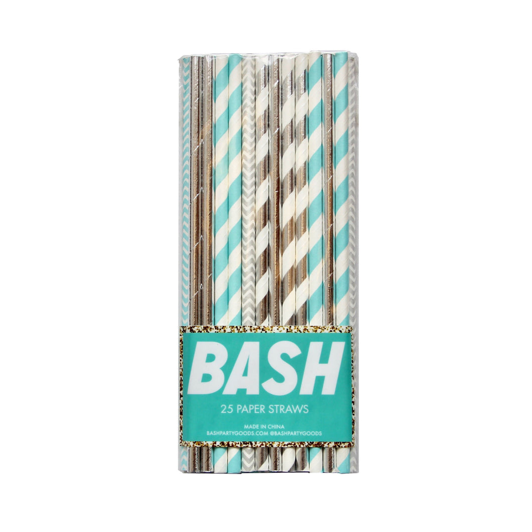 Disco Diamond Foil Straws - Mixed Pack