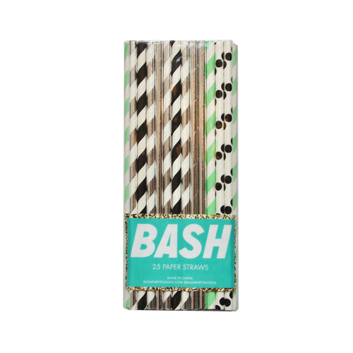 Memphis Mint Paper Straws - Mixed Pack - Ellie and Piper