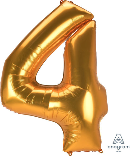FOIL JUMBO NUMBER 4 BALLOON (3 COLORS)
