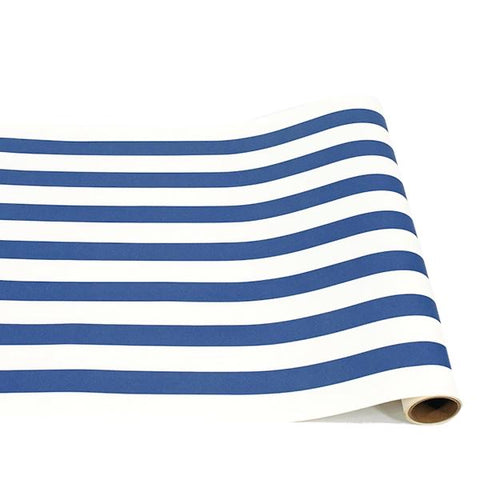 Navy Blue Classic Stripe Runner - Ellie and Piper