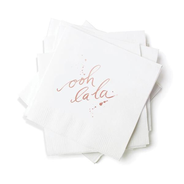 OOH LA LA Cocktail Napkins