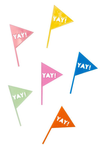 YAY FLAG CUPCAKE TOPPERS