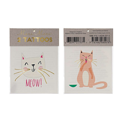 Kitty Cat Temporary Tattoos - Ellie and Piper