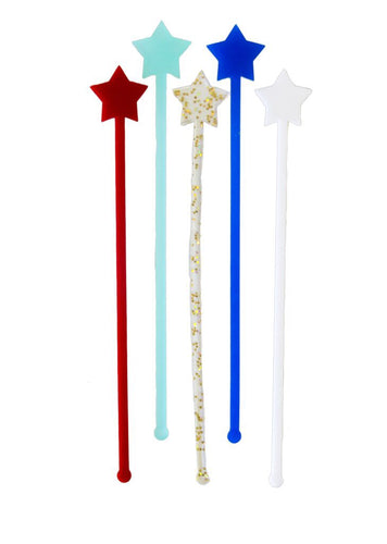 Red White And Blue Cocktail Stirrer Pack Ellie & Piper Party Boutique