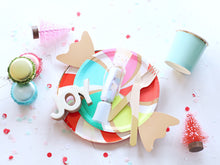 Peppermint Candy Novelty Paper Plates - Ellie and Piper