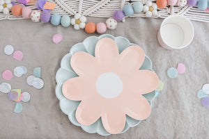 Pastel Daisy Paper Plates - Ellie and Piper