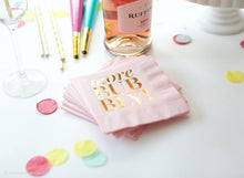 MORE BUBBLY Cocktail Napkins in Pink