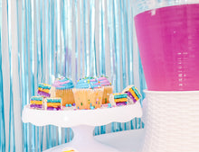 Matte Blue Fringe Curtain Backdrop - Ellie and Piper