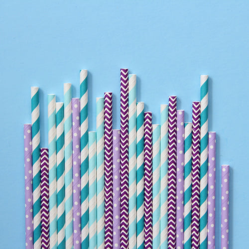 Confetti Pop Paper Straws - Mixed Pack