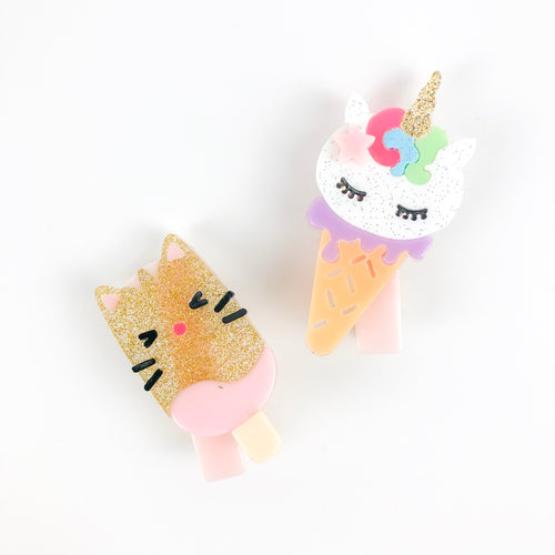 Ice Cream Popsicle Hair Clips