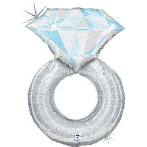 Platinum Engagement Ring Foil Balloon