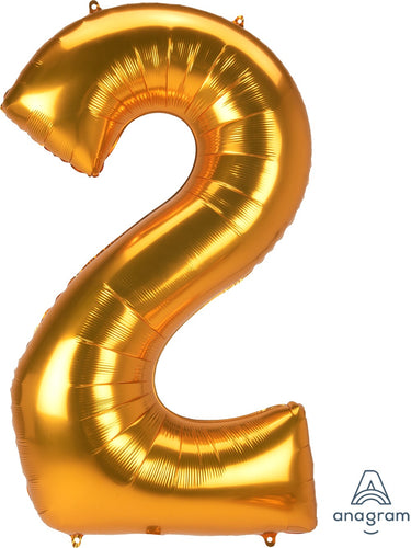 Foil Jumbo Number 2 Balloon (3 Colors) Ellie & Piper Party Boutique