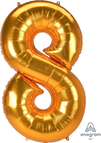 FOIL JUMBO NUMBER 8 BALLOON (3 COLORS)