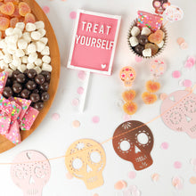 Pink Letter Board Cake Toppers 'Treat Yourself' - Ellie and Piper