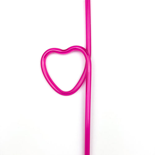 Pink Heart Shaped Silly Straws