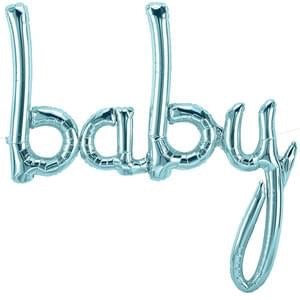 "Foil Balloon for Baby Shower | Blue - ""baby"""