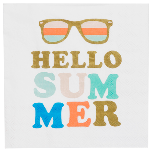 Hello Summer Napkins Ellie & Piper Party Boutique
