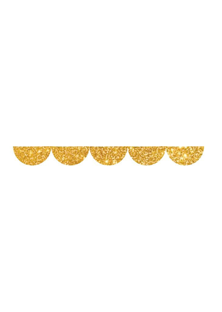 bracket party gols glitter mini scallop garland banner ellie and piper psrty boutique