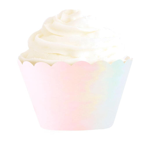 Iridescent Foil Cupcake Wrappers