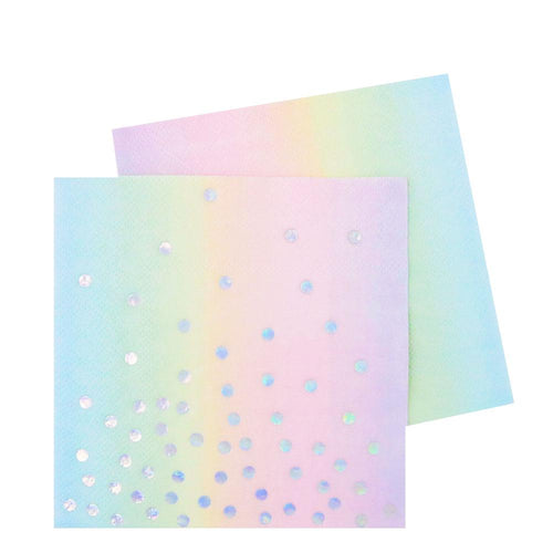 Iridescent Pastel Rainbow Napkins - Ellie and Piper
