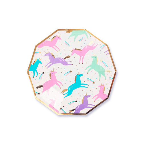 Magical Unicorn Small Paper Plates - Ellie and Piper