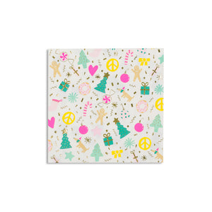 Merry and Bright Christmas Napkins - Ellie and Piper