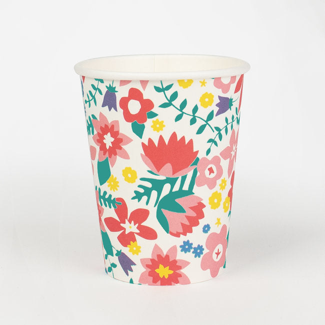 French Flowers Paper Cups - Ellie and Piper
