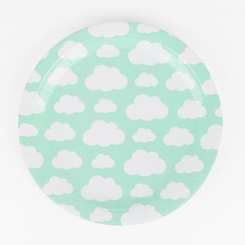 Cloud Paper Plates - Ellie and Piper