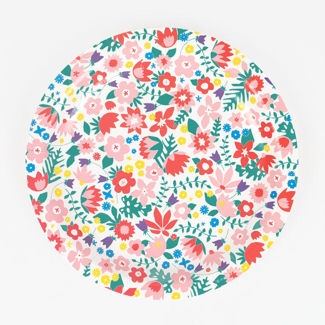 French Flowers Paper Plates - Ellie and Piper