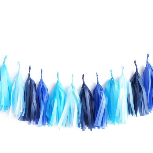Tassel Garland Gradient Blue - Ellie and Piper