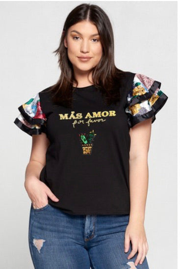 Más Amor Fitted tee