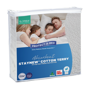 Absorbent Cotton Terry Staynew Fitted Waterproof Mattress Protector