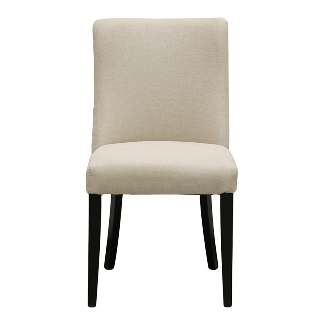 Bastide Chair in Linen with Black Legs