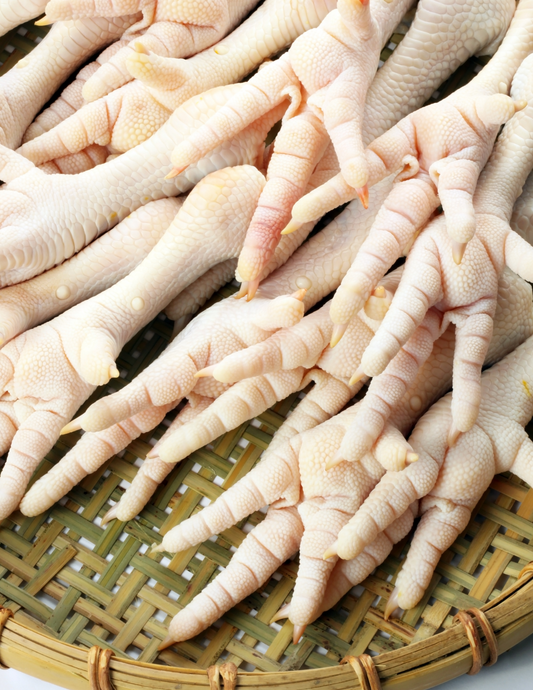 Pasture Raised GMO-Free Chicken Feet 1 lb avg.