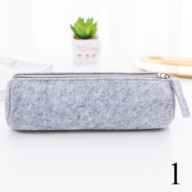 Creative Simple Pencil Case Pure Color Kawaii Cute Student Multifunctional Pen Bag For Gift Korean Stationery School Supplies