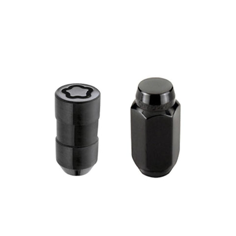 McGard 5 Lug Hex Install Kit w/Locks (Cone Seat Nut) M14X1.5 / 22mm Hex / 1.635in. Length - Black - Two Step Performance
