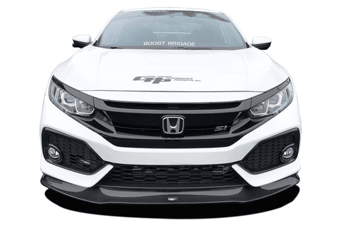 CARBON FIBER FRONT LIP SPOILER 2017+ HONDA CIVIC SI - Two Step Performance