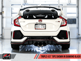 Touring Edition Exhaust w/ Front Pipe for 2017+ Honda Civic Type R FK8 - Two Step Performance