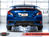 Touring Edition Exhaust w/ Front Pipe for 2017+ Honda Civic Si - Two Step Performance